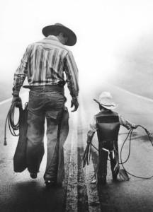 Cowboy und Sohn
